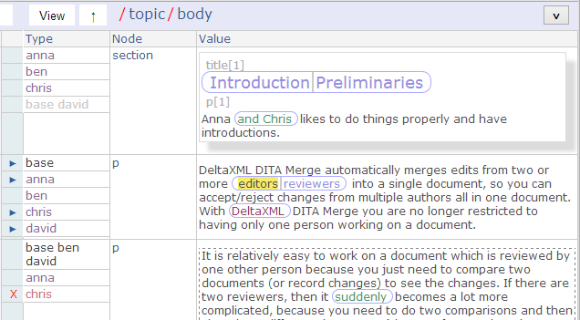 The review-only web prototype showing the same collated document.