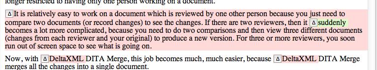 Image highlighting nested change