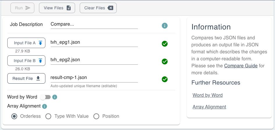 Upload your JSON Files GUI