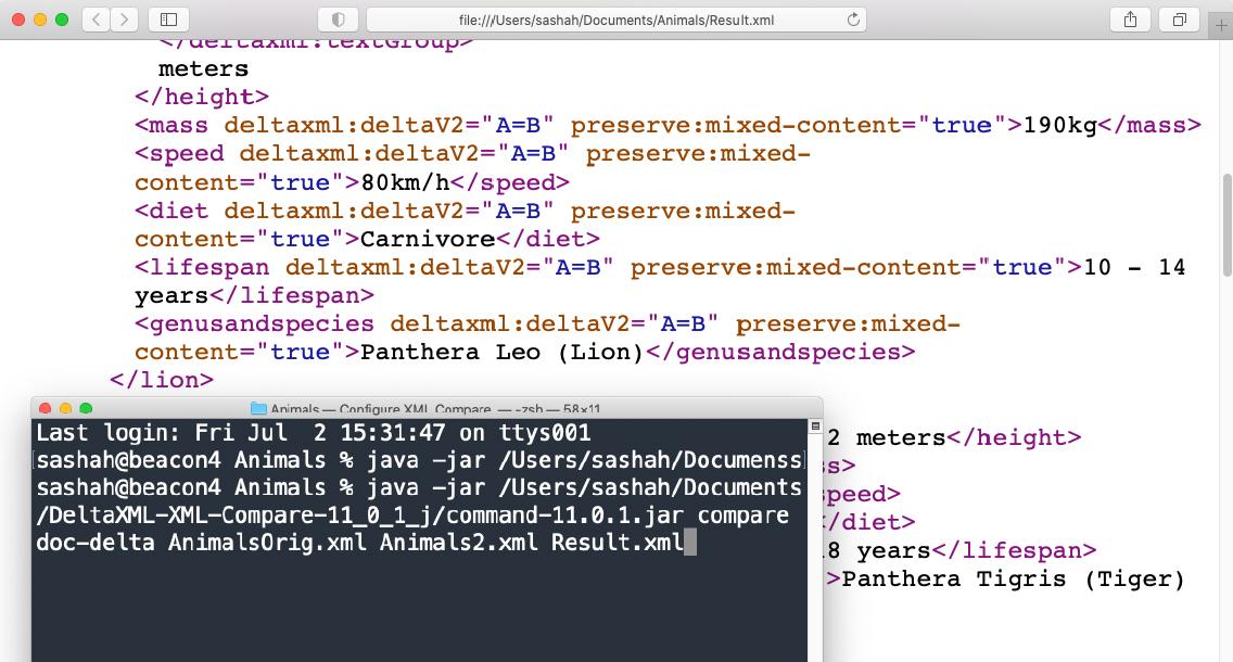 XML Compare Configure